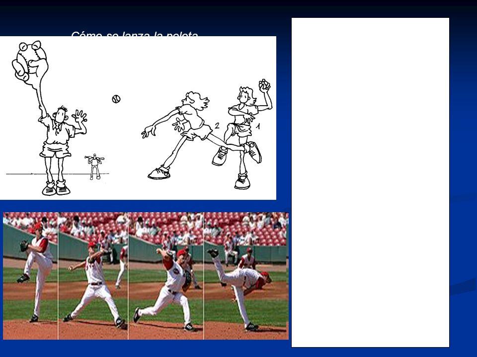 La pelota se agarra con los dedos índice y medio por su parte superior mientras que el pulgar se apoya por la parte inferior. Se echa el brazo atrás y