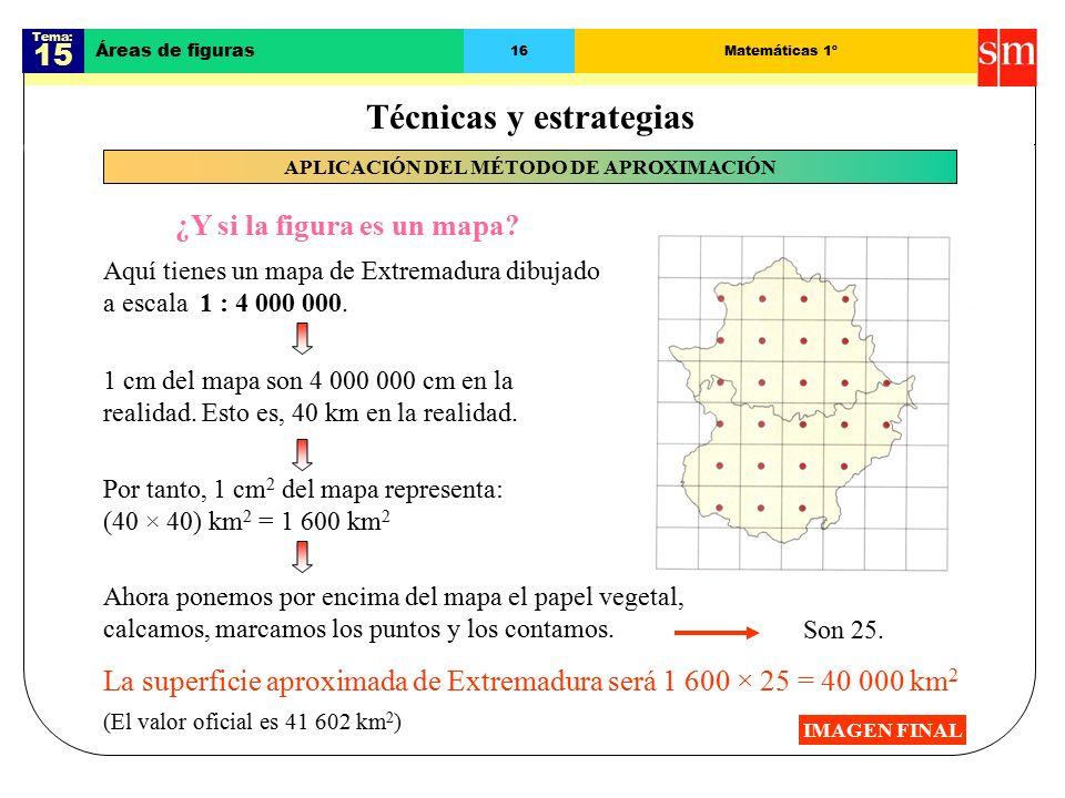 Tema: 15 Áreas de figuras 16Matemáticas 1º IMAGEN FINAL ¿Y si la figura es un mapa.