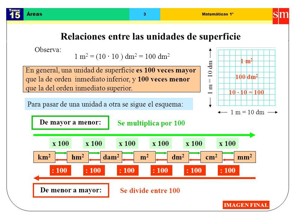 Tema: 15 Áreas 13Matemáticas 1º Área del sector circular IMAGEN FINAL El área del sector circular depende de su ángulo.