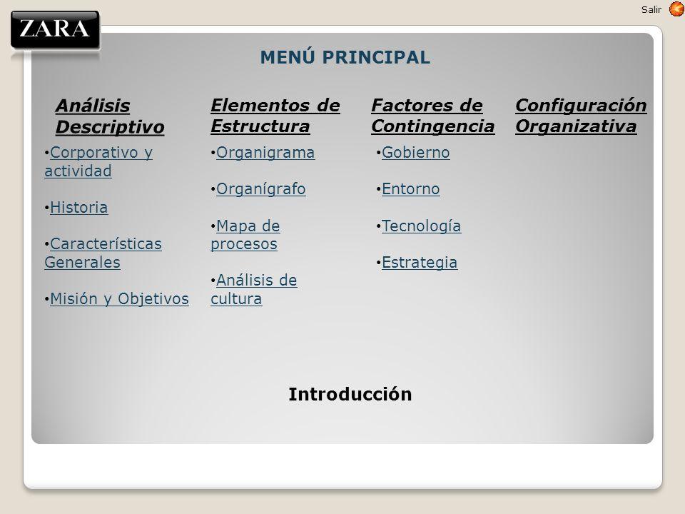 Corporativo y actividad Corporativo y actividad Historia Características Generales Características Generales Misión y Objetivos Elementos de Estructur