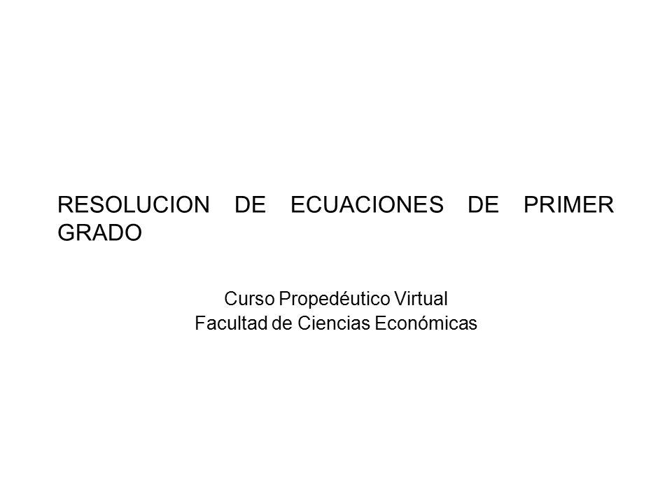 OBJETIVOS Definiremos conceptos relativos a Ecuaciones e Inecuaciones.