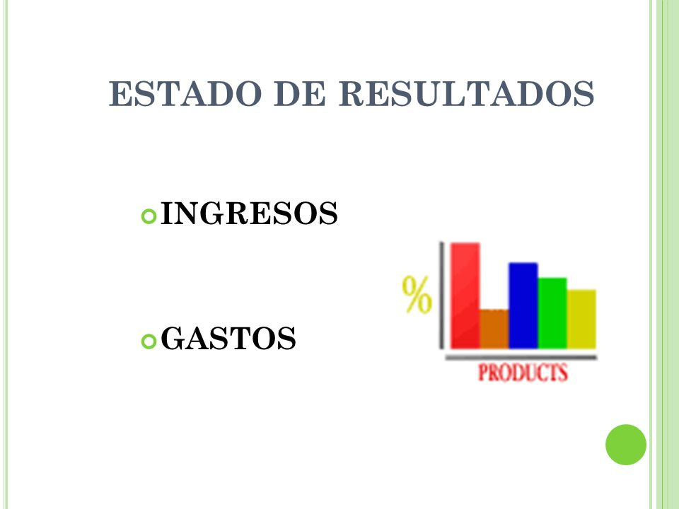 ESTADO DE RESULTADOS INGRESOS GASTOS