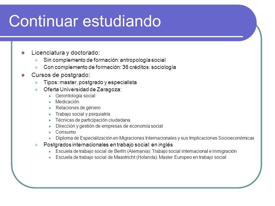 salidas profesionales. datos sobre inserción laboral estudios