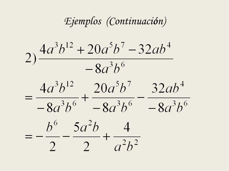 Ejemplos (Continuación)