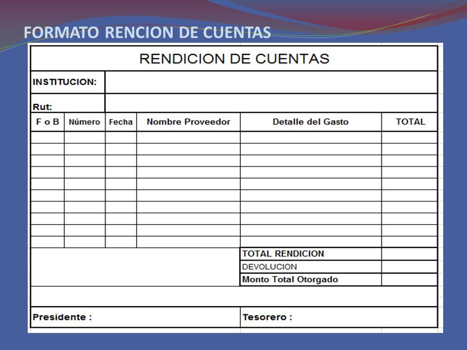 FORMATO RENCION DE CUENTAS