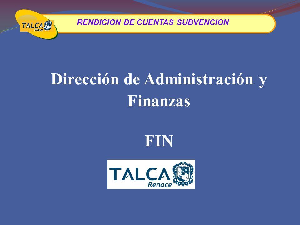 Dirección de Administración y Finanzas FIN
