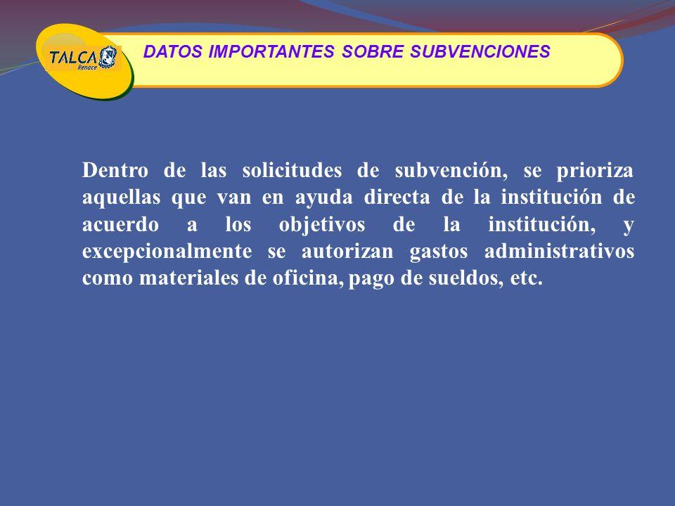 1.-Para postular a Subvención en I.