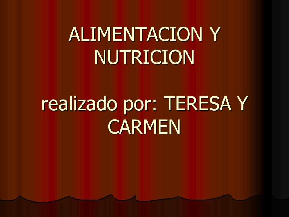 ALIMENTOS- son indispensables para la vida ALIMENTACION- suministran los alimentos al organismo.