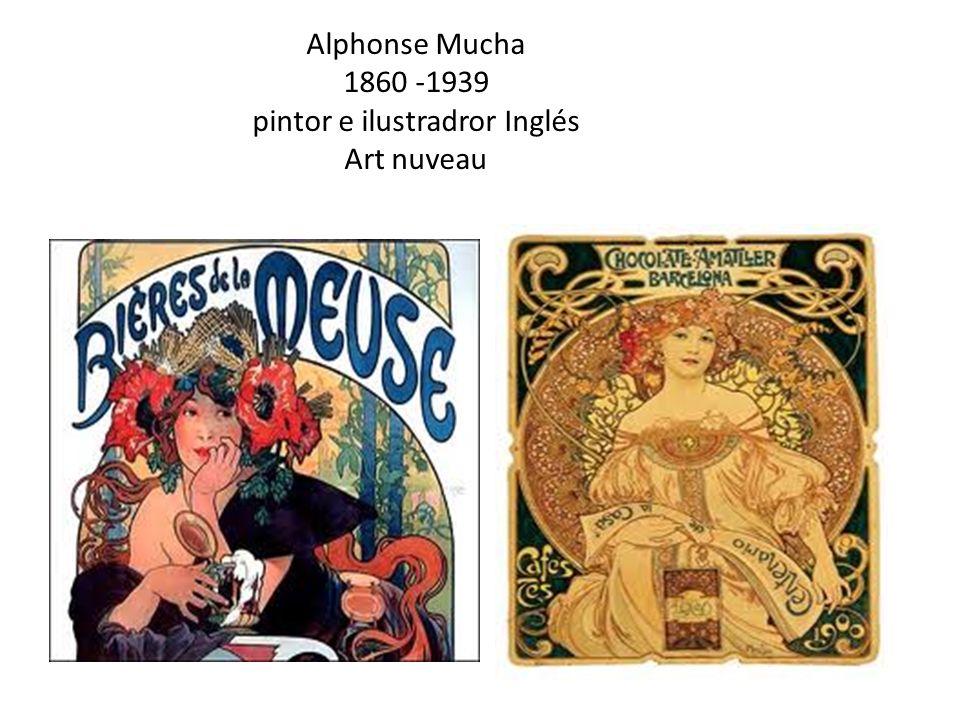 Alphonse Mucha 1860 -1939 pintor e ilustradror Inglés Art nuveau
