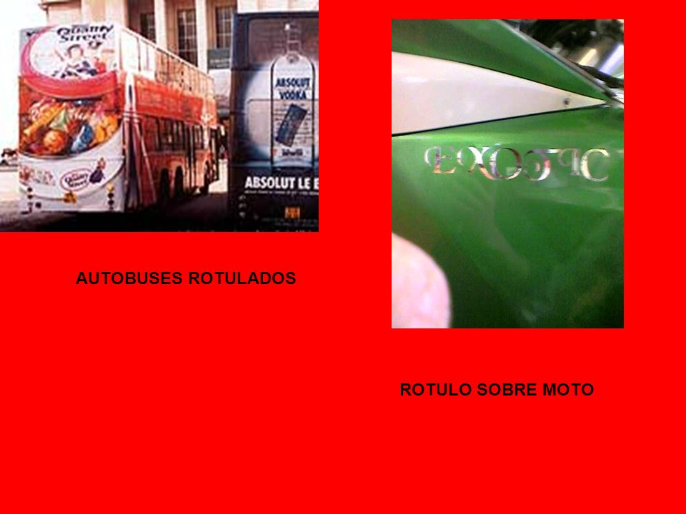 AUTOBUSES ROTULADOS ROTULO SOBRE MOTO