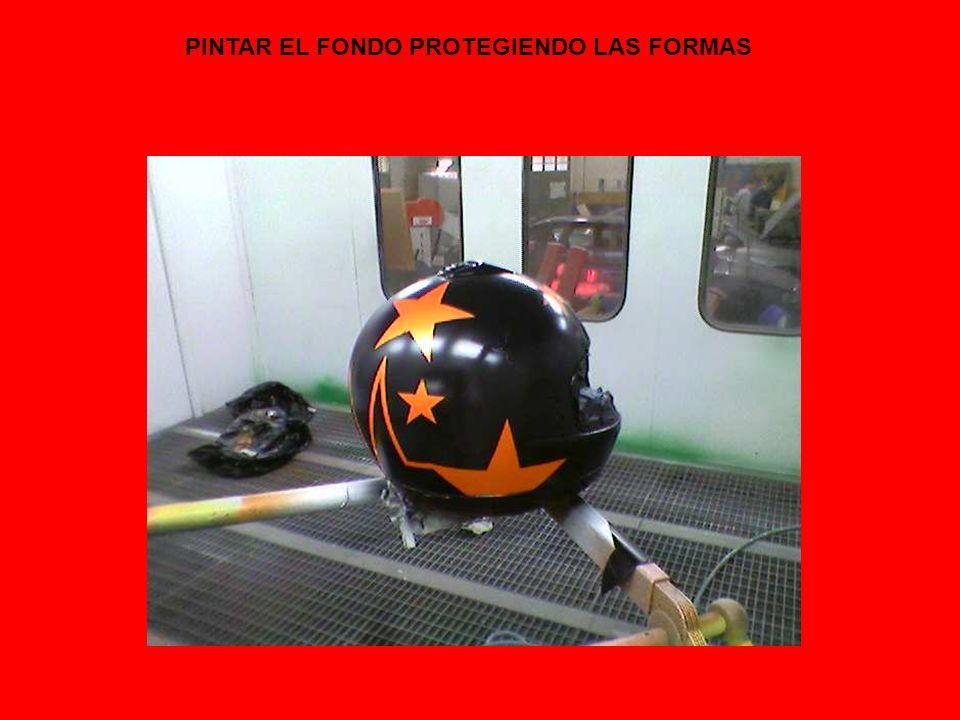 PINTAR EL FONDO PROTEGIENDO LAS FORMAS