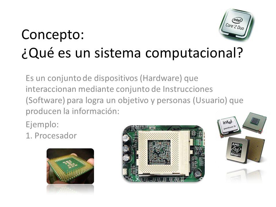 Concepto: ¿Qué es un sistema computacional.
