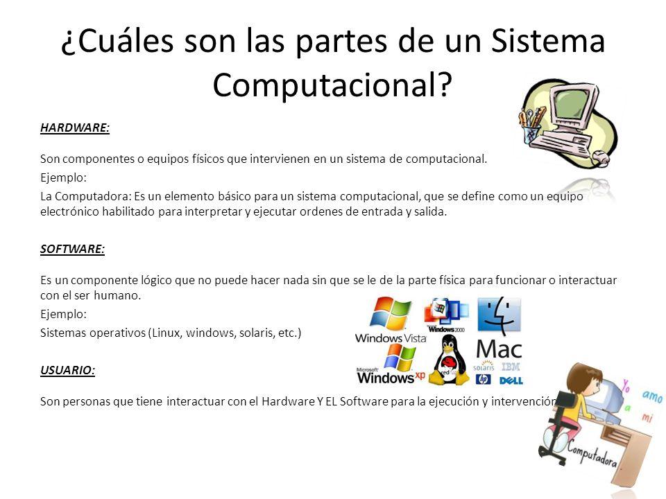 ¿Cuáles son las partes de un Sistema Computacional.