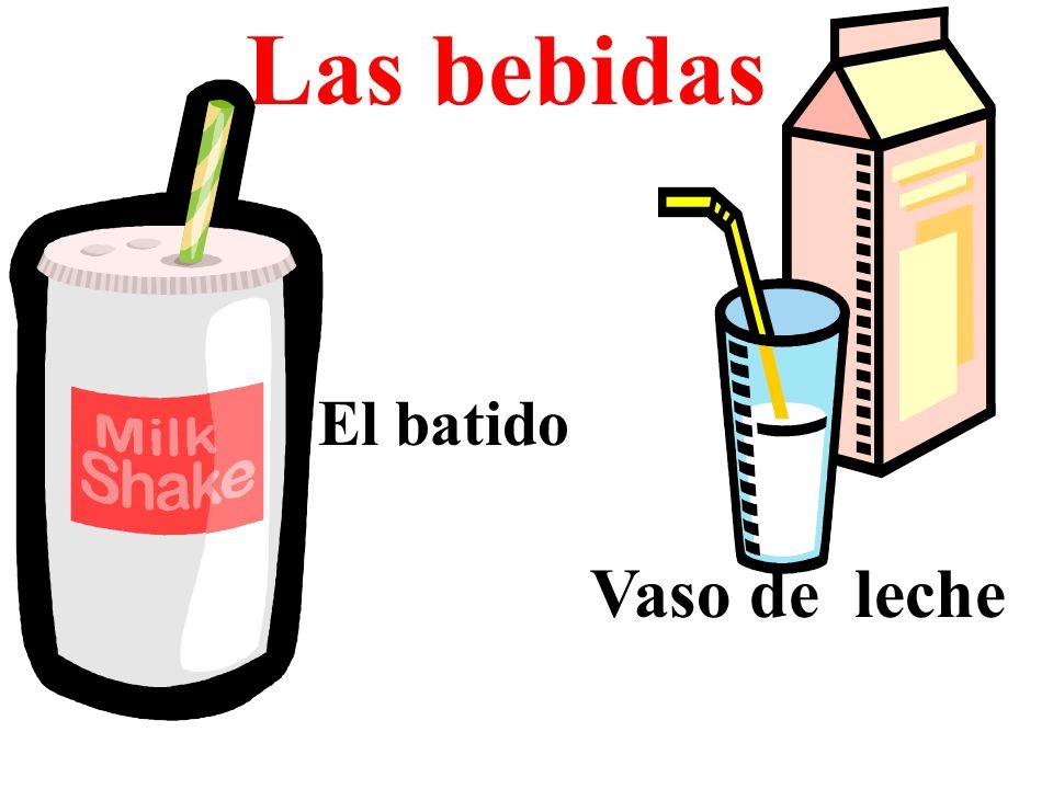 Las bebidas Vaso de leche El batido
