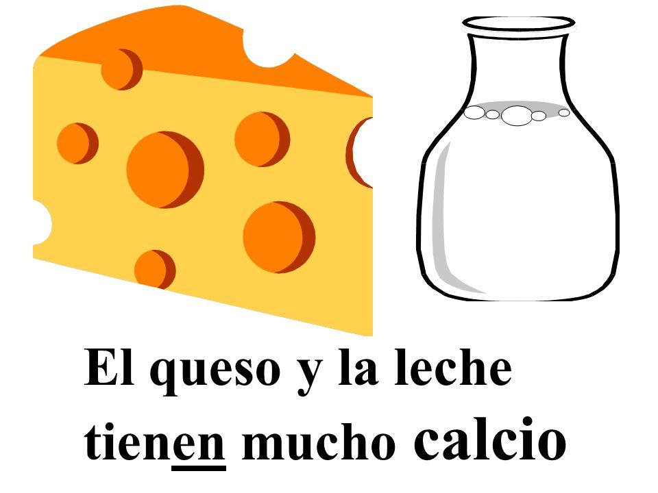 El queso y la leche tienen mucho calcio
