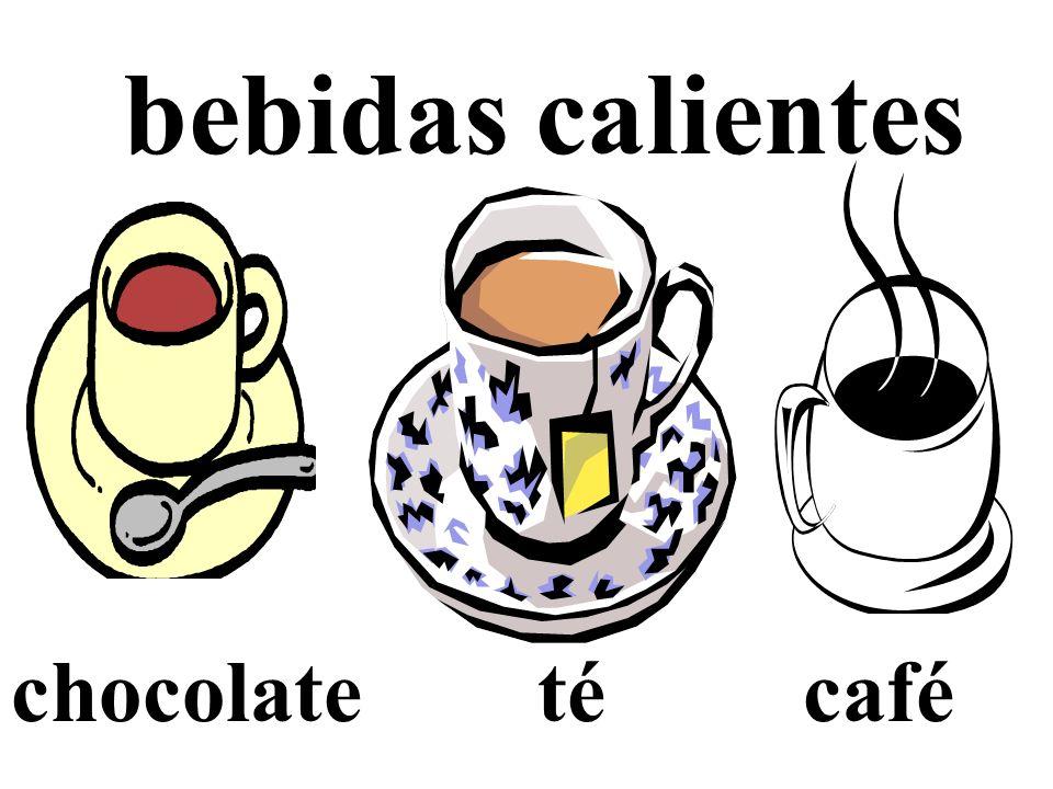 bebidas calientes chocolate té café