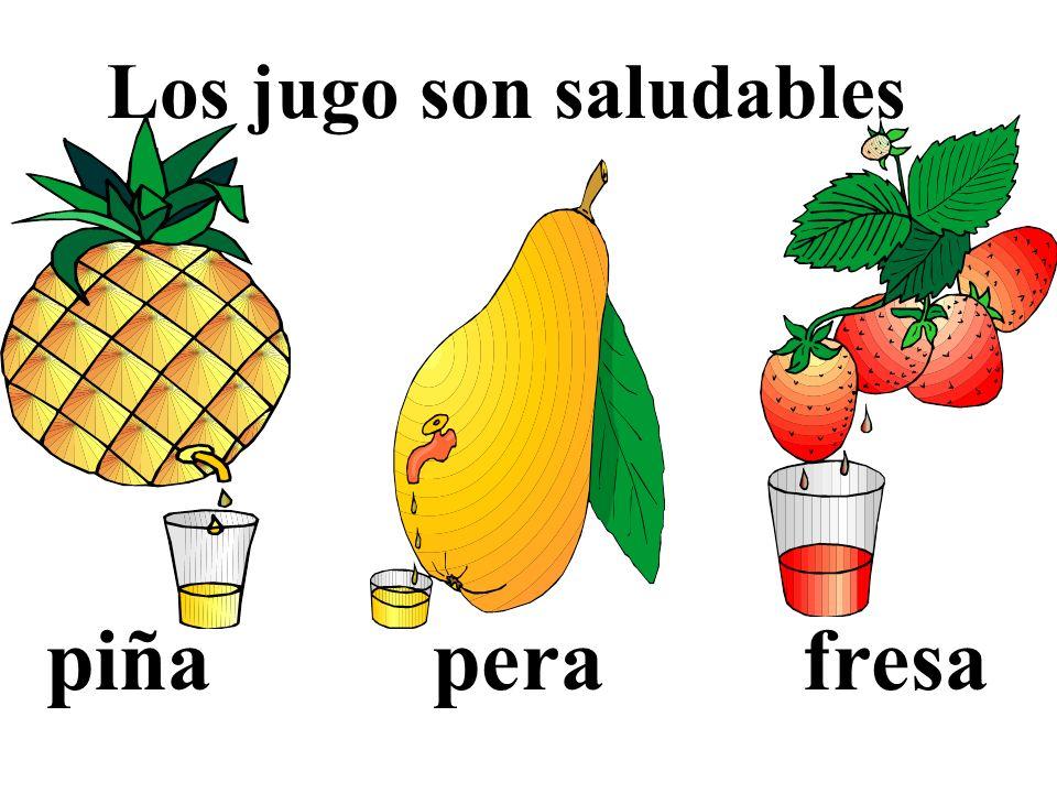 Los jugo son saludables piña pera fresa
