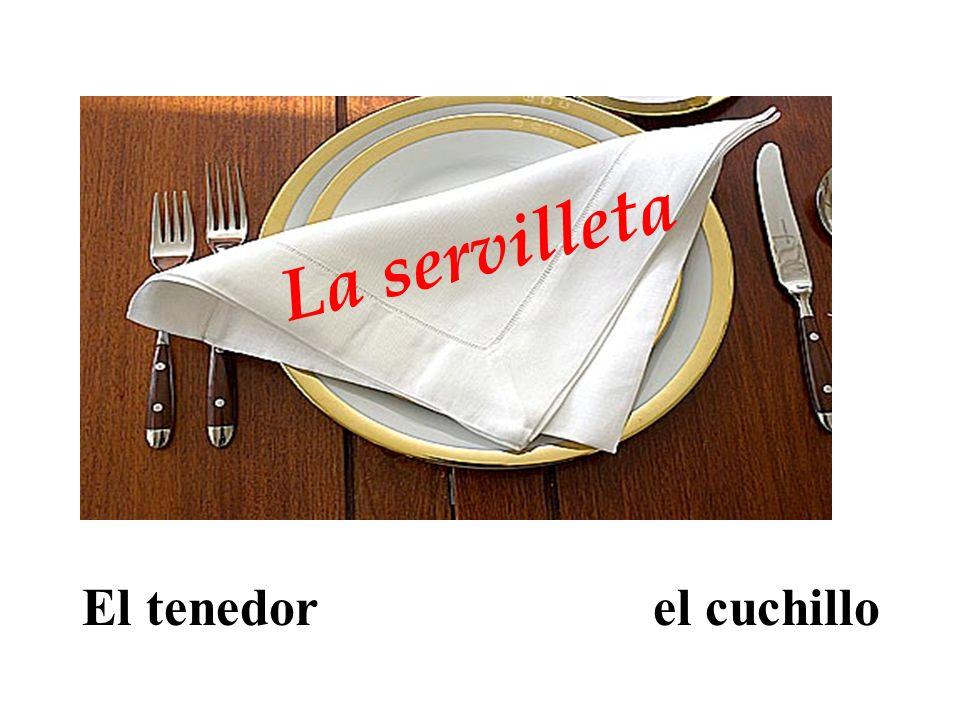 El tenedor el cuchillo