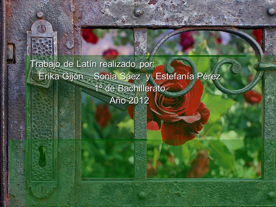 Trabajo de Latín realizado por: Erika Gijón, Sonia Sáez y Estefanía Pérez 1º de Bachillerato Año 2012