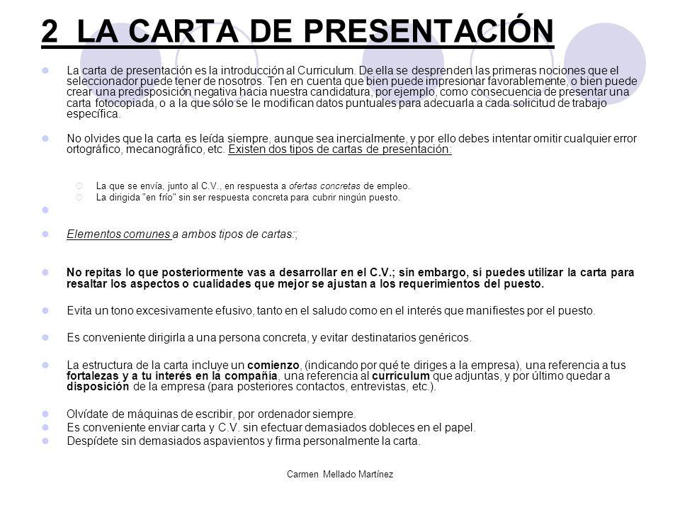 Carmen Mellado Martínez El curriculum vitae Ideas, formas y pasos ...