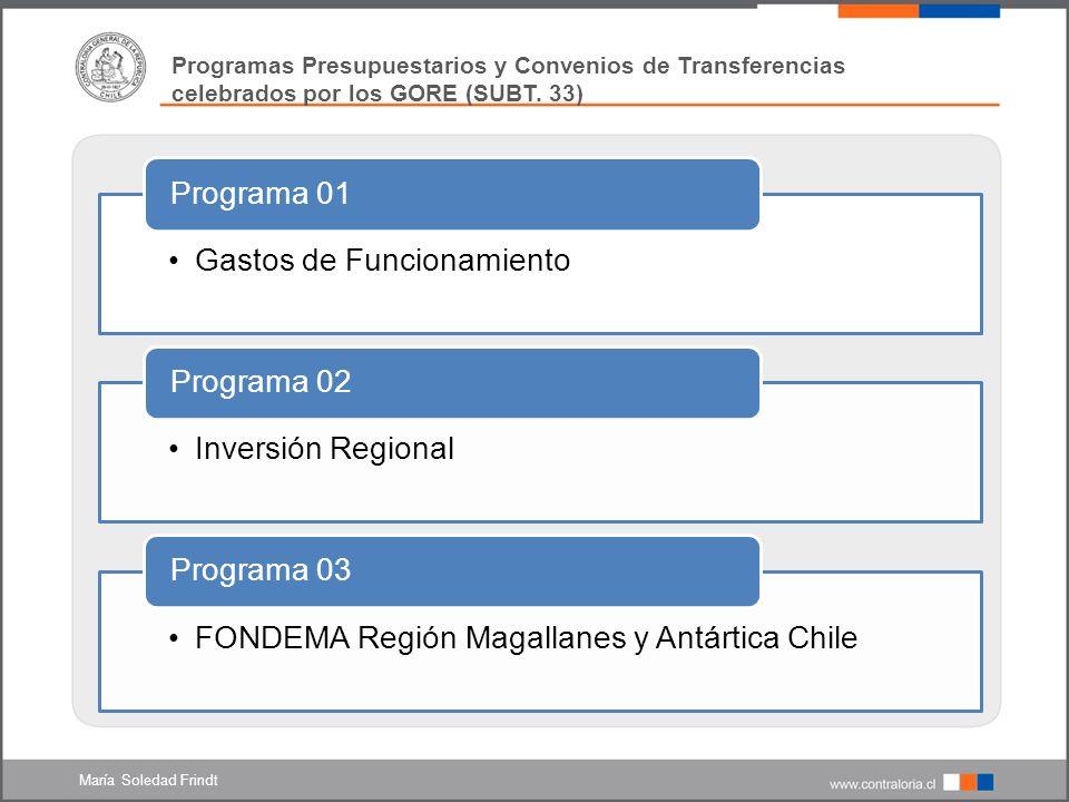 Programas Presupuestarios y Convenios de Transferencias 1.