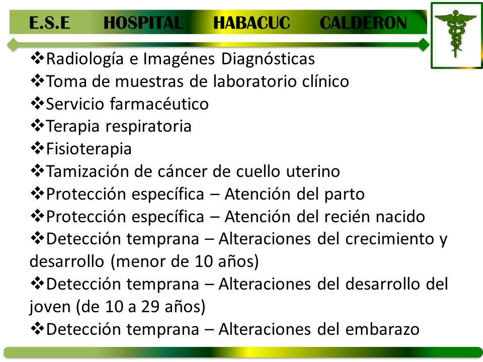 E.S.E HOSPITAL HABACUC CALDERON RENDICION DE CUENTAS AREA ...