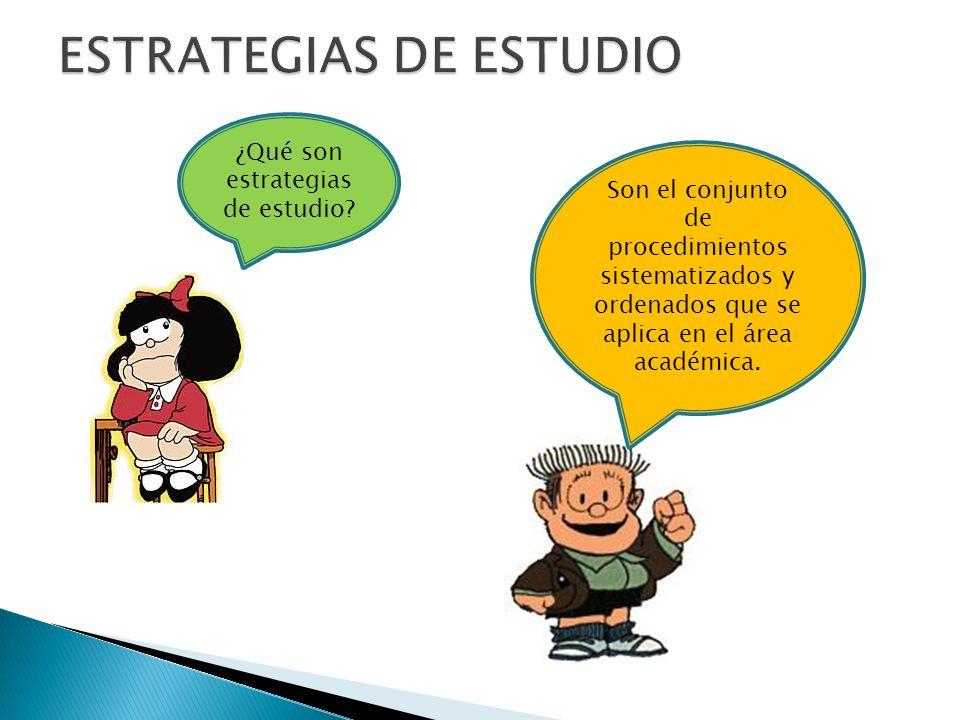 ¿Qué son estrategias de estudio.