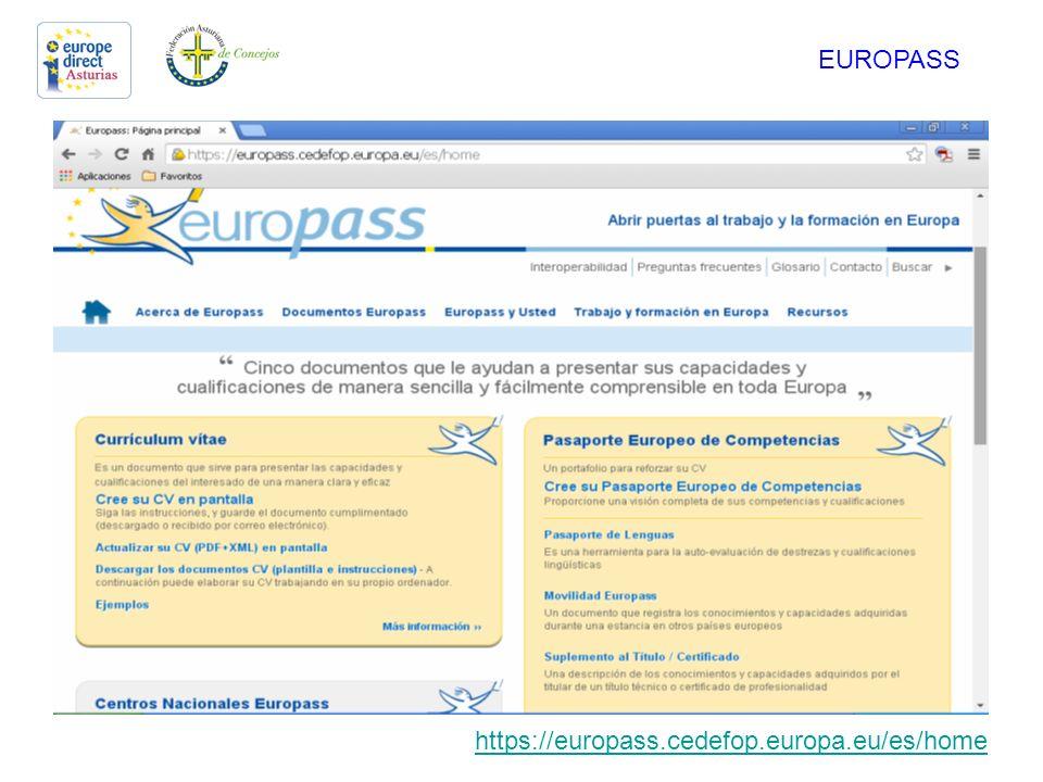 ELABORACIÓN DE CV FORMATO EUROPASS. Europass Es un sistema de ...