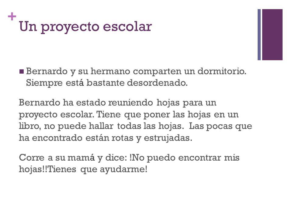 + Un proyecto escolar Bernardo y su hermano comparten un dormitorio.