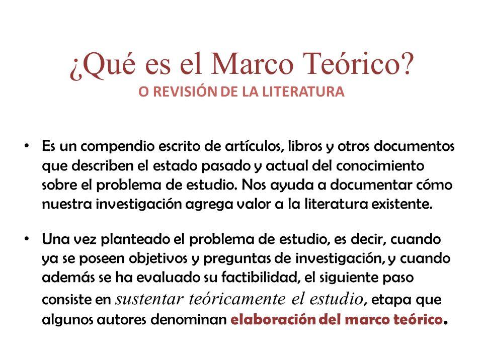 ¿Qué es el Marco Teórico.