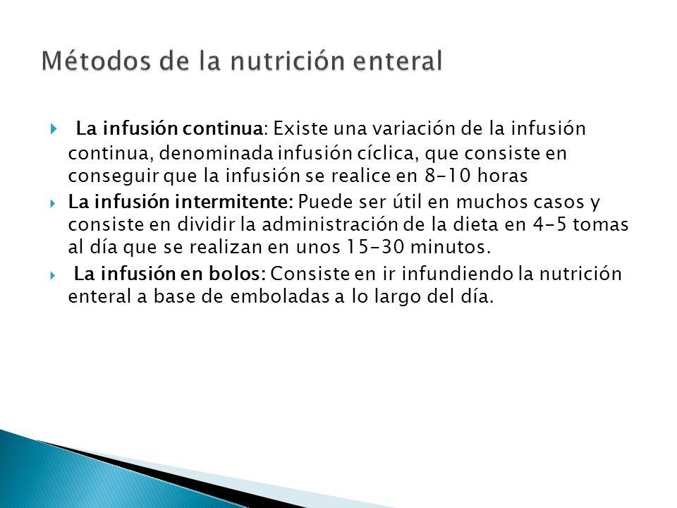  La nutrición parenteral es aquella modalidad de soporte nutricional en la cual las soluciones nutritivas artificiales se administran por vía intravenosa.