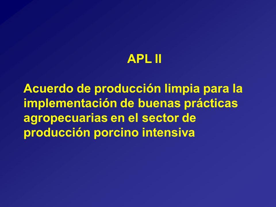 APL II Acuerdo de producción limpia para la implementación de buenas prácticas agropecuarias en el sector de producción porcino intensiva