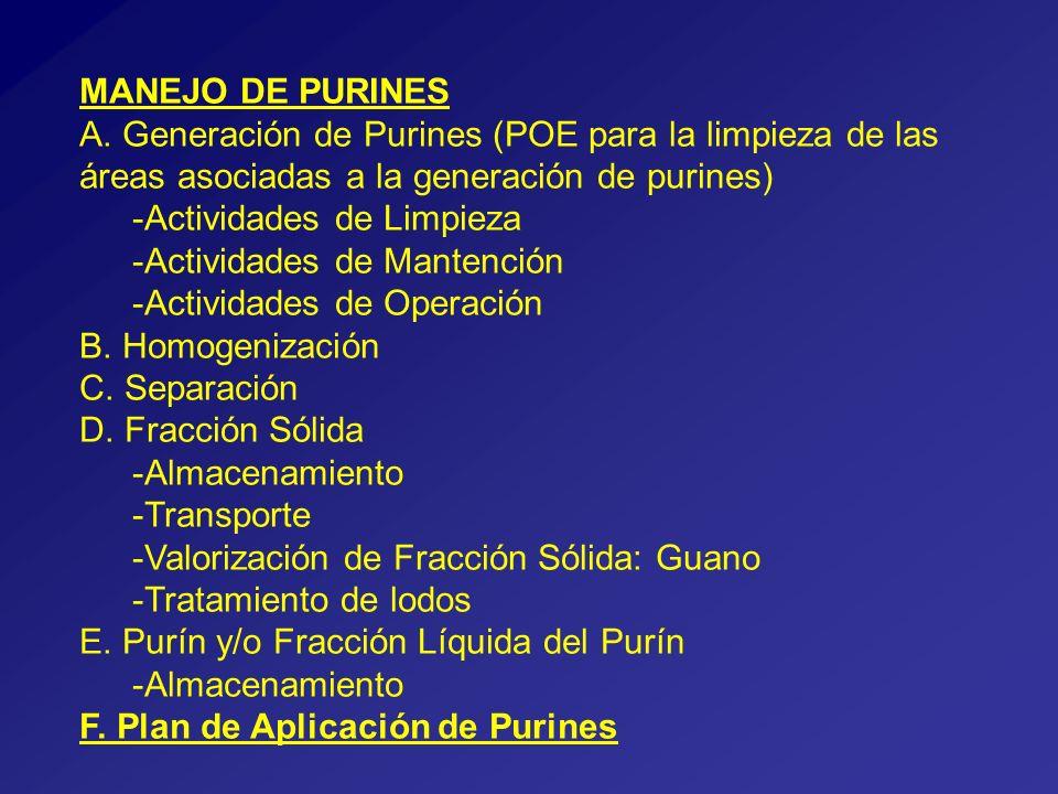 MANEJO DE PURINES A.