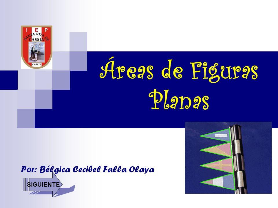Áreas de Figuras Planas Por: Bélgica Cecibel Falla Olaya SIGUIENTE