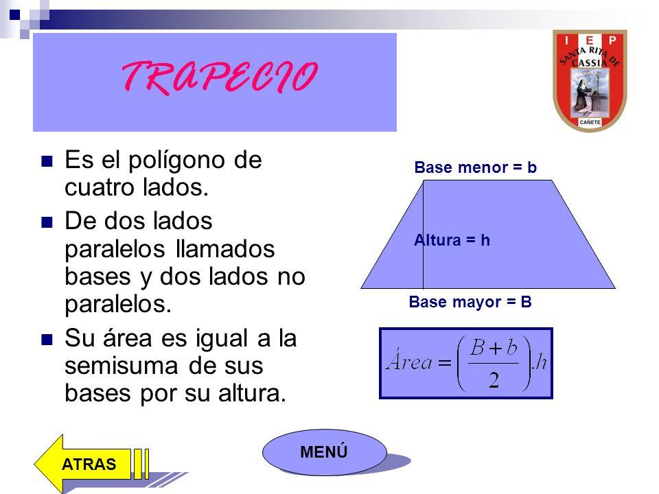 TRAPECIO Es el polígono de cuatro lados.