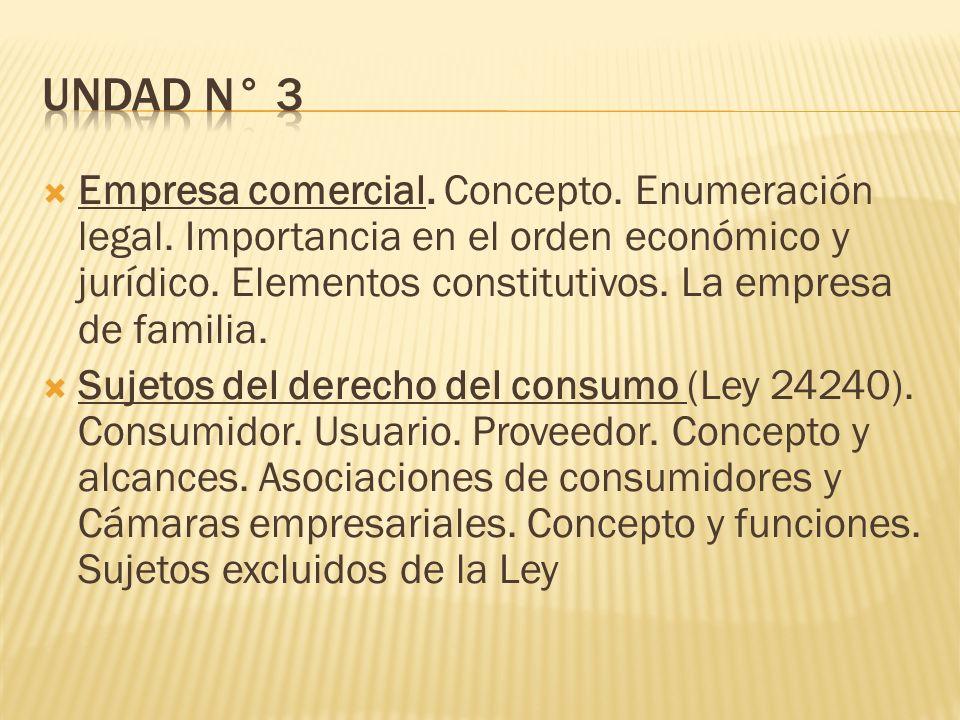  Empresa comercial. Concepto. Enumeración legal.