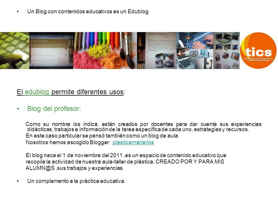 Objetivos Generales del Blog Difundir por Internet los materiales creados por los alumnos.