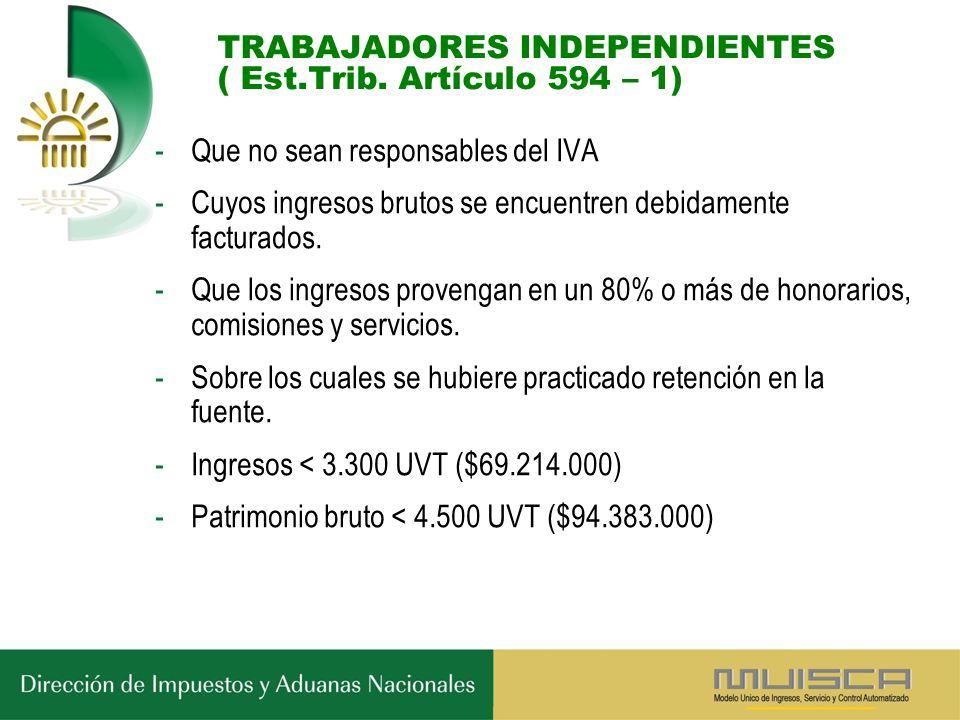 TRABAJADORES INDEPENDIENTES ( Est.Trib.