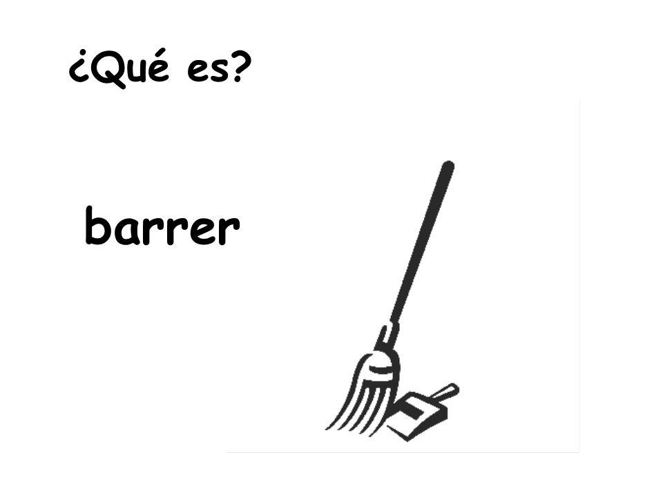 ¿Qué es barrer