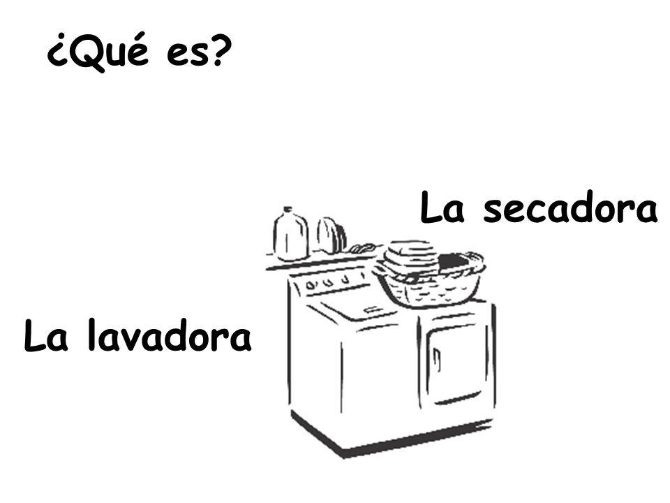 La secadora La lavadora