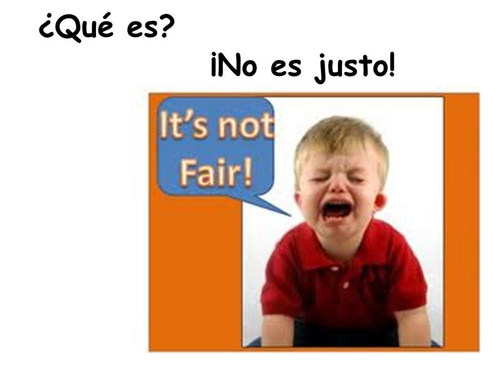¿Qué es ¡No es justo!