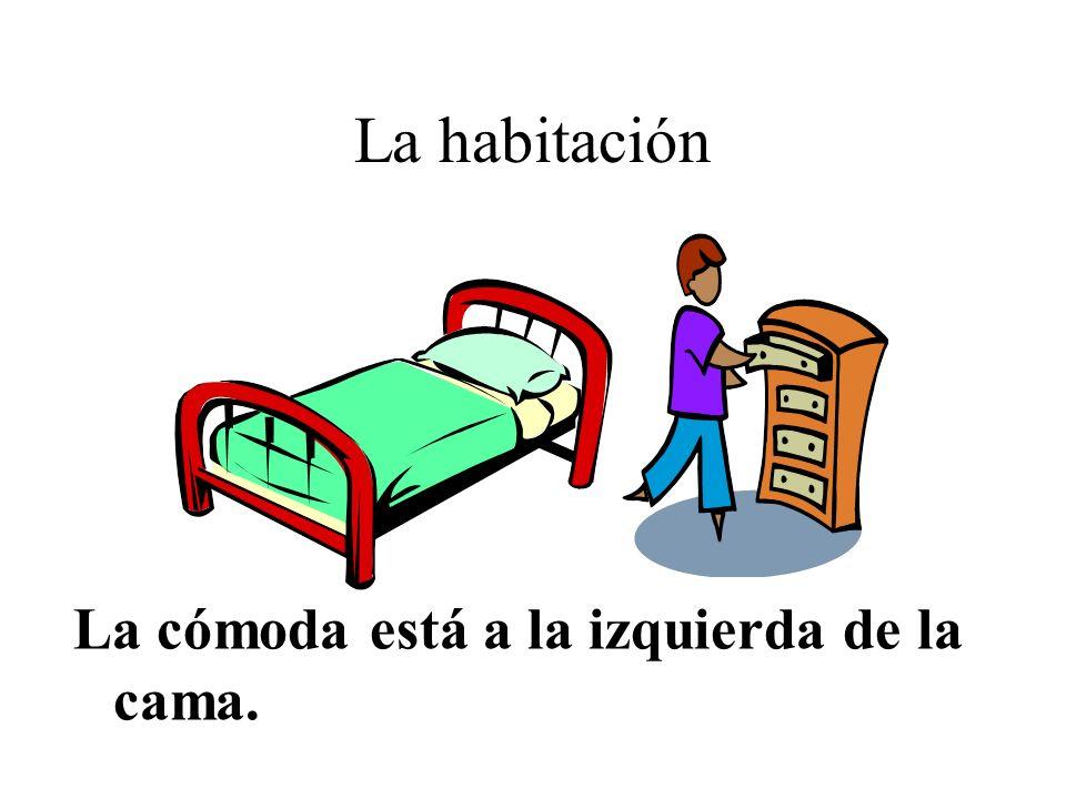 La habitación La cómoda está a la izquierda de la cama.