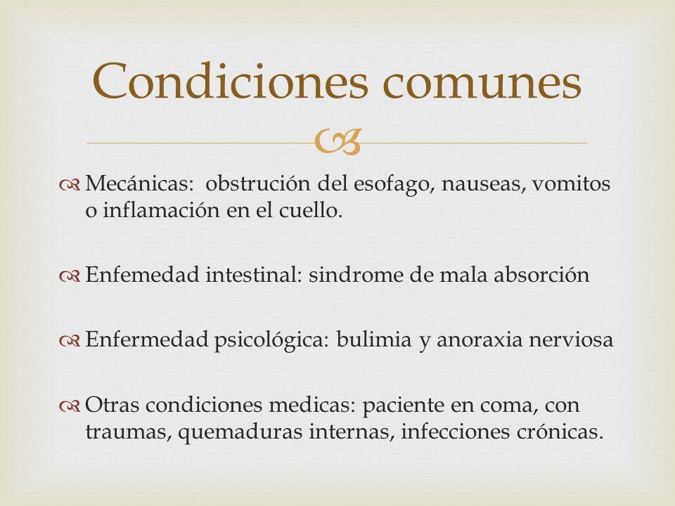   Mecánicas: obstrución del esofago, nauseas, vomitos o inflamación en el cuello.  Enfemedad intestinal: sindrome de mala absorción  Enfermedad ps