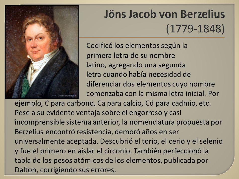 Universidad autnoma del estado de mxico facultad de qumica 9 jns jacob von berzelius 1779 1848 codific los elementos segn la primera letra de su nombre latino agregando una segunda letra cuando haba necesidad urtaz Images