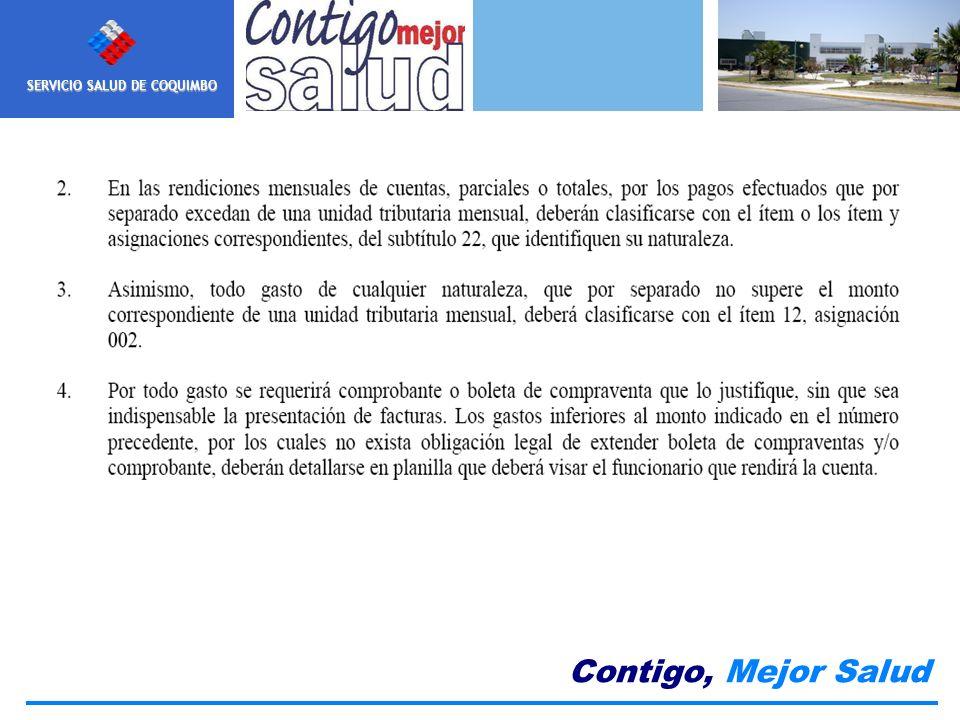 SERVICIO SALUD DE COQUIMBO Contigo, Mejor Salud