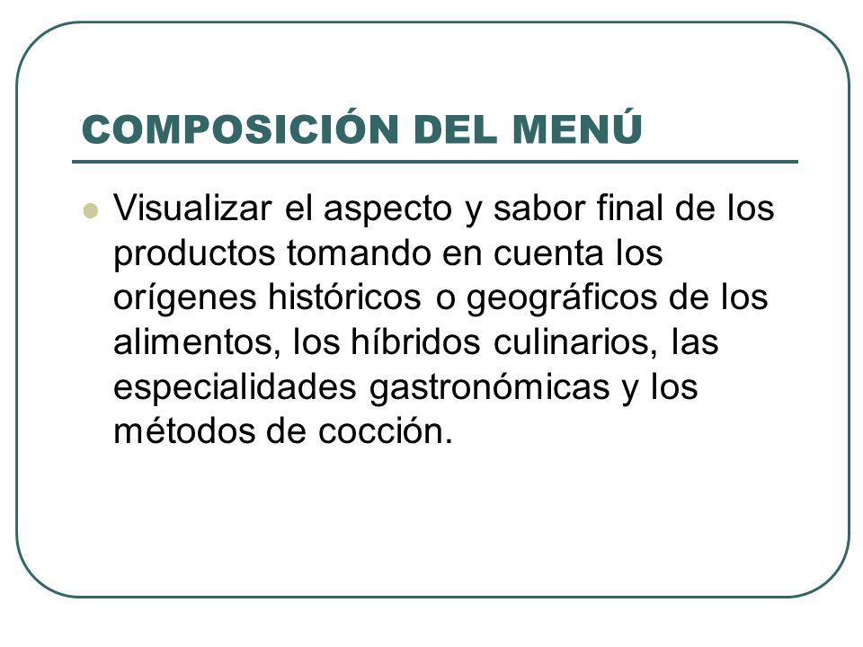 MENÚ DE COMIDA CORRIDA Es el más popular y sencillo Fácil de controlar Disminuye el desperdicio de alimentos Tiene un número fijo de selecciones en cada tiempo.