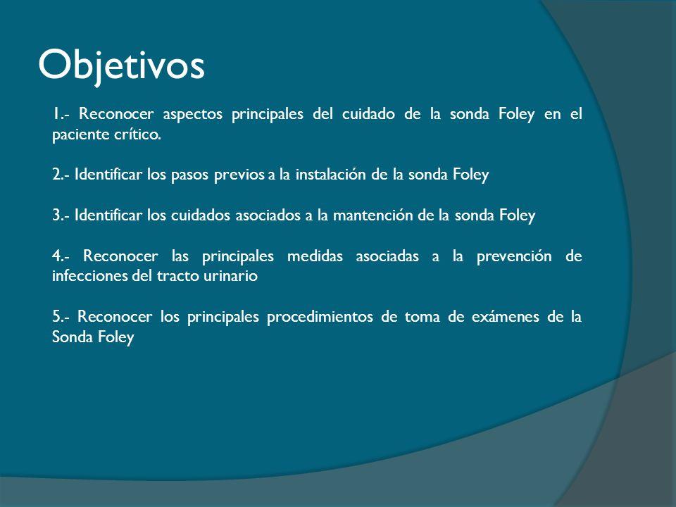 Pasos para la instalación de una Sonda Foley (Guía Clínica Sonda Uretrovesical a permanencia, 2013) 9.- Poner sujetador de Sonda Foley en la pierna del mismo lado donde quedará ésta.