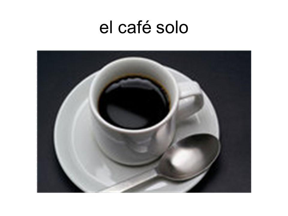 el café solo