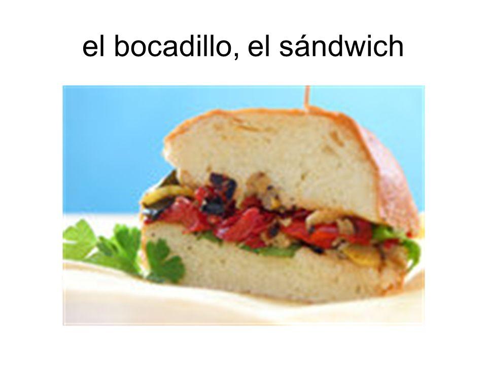 el bocadillo, el sándwich