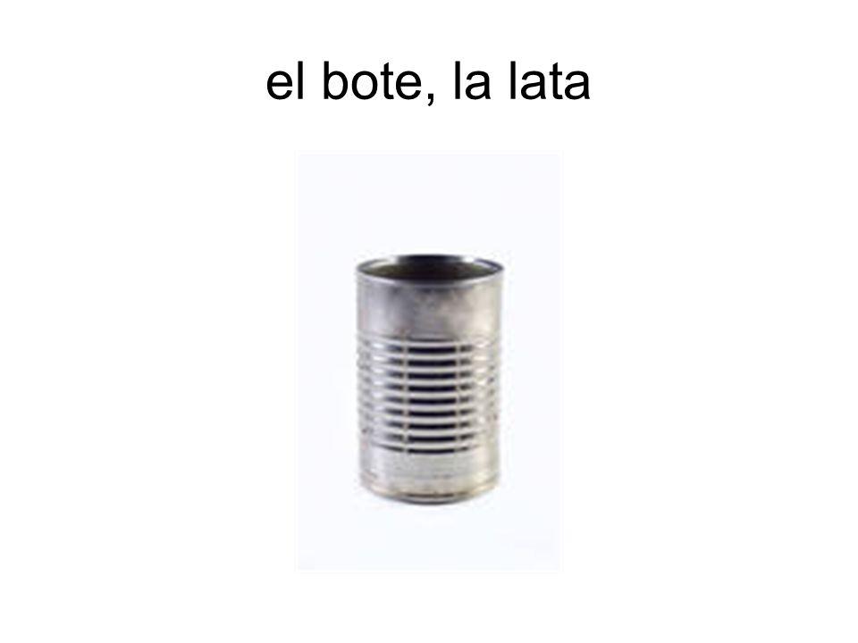 el bote, la lata